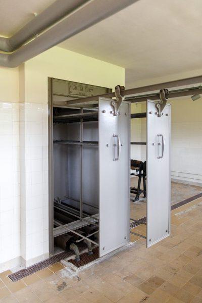 Sechoir,  modèle identique au séchoir collectif de l'immeuble Clareté conçu par Le Corbusier à à Genève