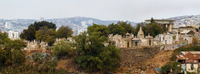 Cimetière en haut d'un cerros